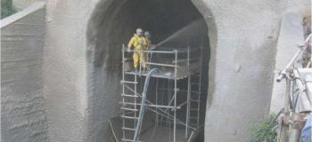 Concreto projetado para túneis e taludes