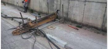 Execução de dreno horizontal profundo